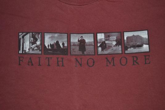 VINTAGE 90s FAITH NO MORE MIMICVII CONCERT PROMO T-SHIRT