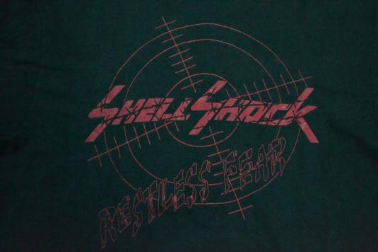 Vintage 1991 SHELL SHOCK Restless Fear Tour Promo T-shirt