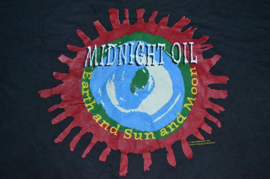Vintage 90s MIDNIGHT OIL Earth and Sun and Moon Tour T-shirt
