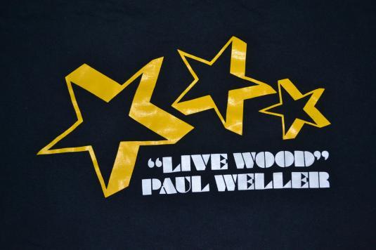 Vintage 1993 PAUL WELLER Live Wood T-shirt