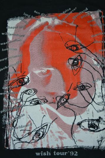 Vintage 1992 THE CURE Wish Tour Concert Robert Smith T-shirt