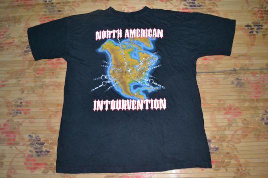 Vintage 1994 SLAYER North American Intourvention T-shirt