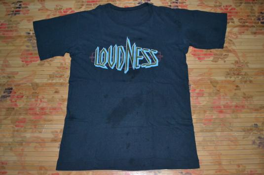 Vintage 1985 LOUDNESS World Circuit Chapter 1 Tour T-shirt