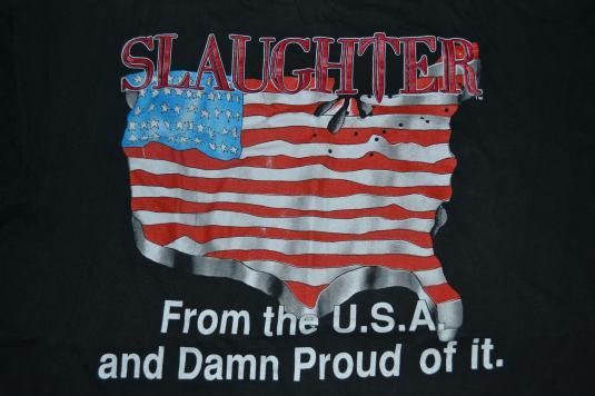 Vintage 1991 SLAUGHTER No Iraq Tour T-shirt