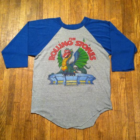 Vintage 1981 Rolling Stones concert raglan t-shirt