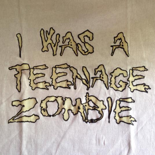 Vintage 1980's I Was A Teenage Zombie horror movie t-shirt