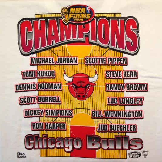 Vintage 1998 Chicago Bulls caricatures t-shirt