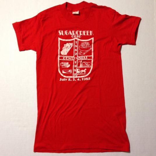 Vintage 1982 Sugarcreek, Ohio centennial t-shirt