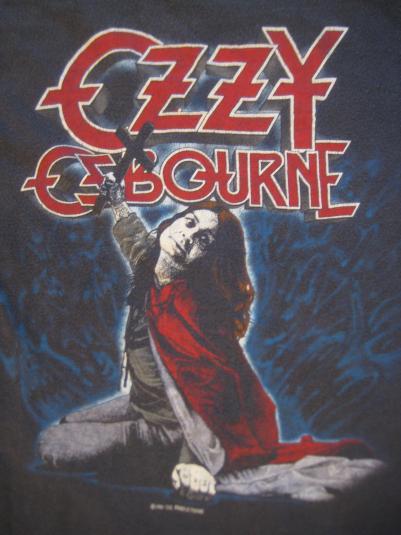 Vintage 1981 Ozzy Osbourne Blizzard of Oz t-shirt