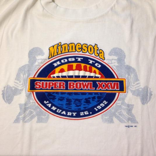 Vintage 1992 Super Bowl XXVI Minneapolis t-shirt