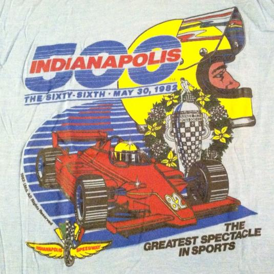 Vintage 1982 Indy 500 super soft and thin, t-shirt