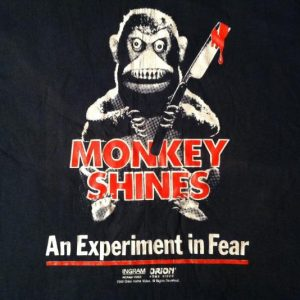 Vintage Original 1989 Monkey Shines horror movie t-shirt