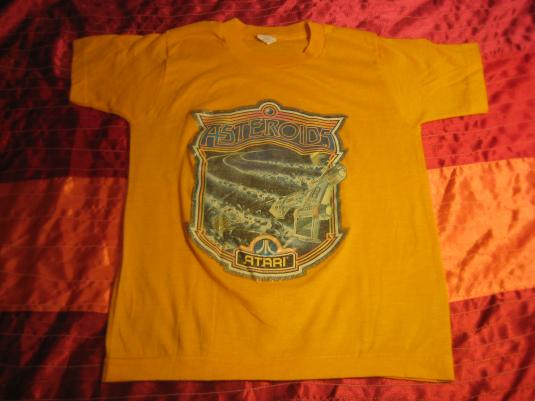 Vintage Asteroids t-shirt, 1980's video game, youth 10-12