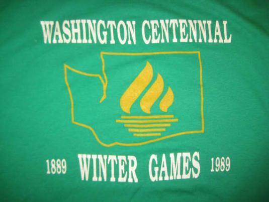 Vintage 1989 Washington centennial t-shirt, L XL