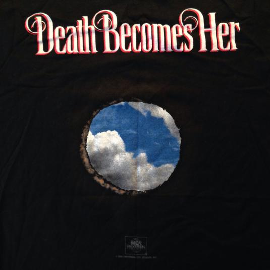 Vintage 1992 Death Becomes Her movie t-shirt