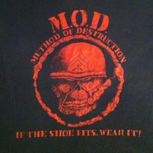 Vintage 1980's MOD M.O.D. thrash metal t-shirt
