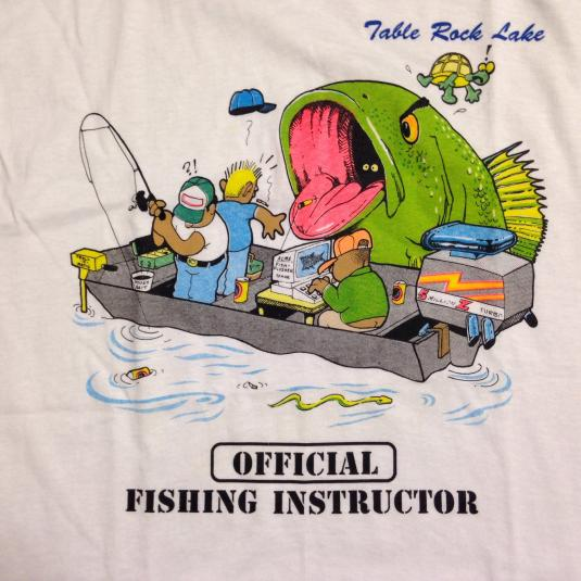 Vintage 1980's funny fishing instructor t-shirt