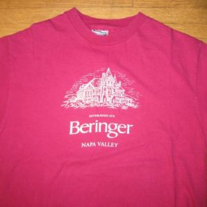 Vintage Late 1980's, early 1990's Beringer Wine t-shirt, L