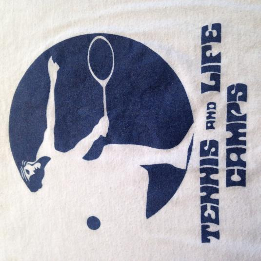 Vintage 1970's Tennis And Life Camps t-shirt