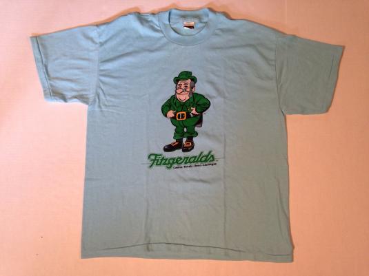 Vintage 1980's Fitzgerald's Casino leprechaun t-shirt