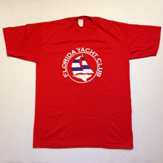 Vintage 1980's Florida Yacht Club t-shirt