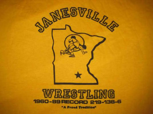 89 Minnesota Wrestling vintage t-shirt, XL