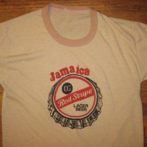 vintage Jamaica Red Stripe beer t-shirt, CRAZY soft & thin!!