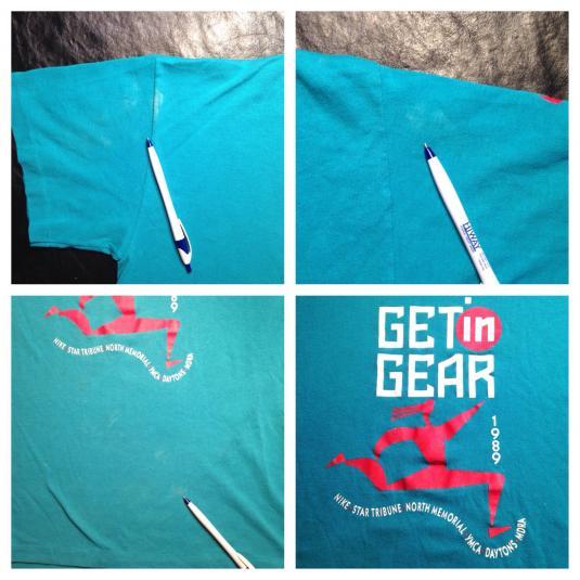Vintage 1989 Nike Get in Gear Minneapolis marathon t-shirt