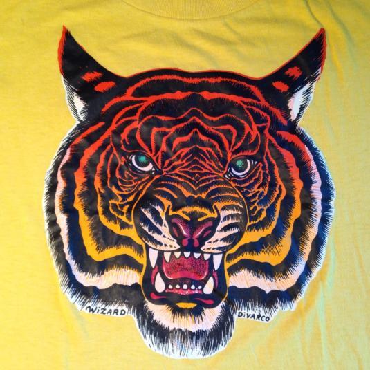 Vintage 1970's ferocious tiger t-shirt