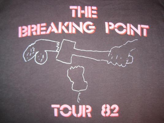 Original vintage deadstock 1982 Iggy Pop t-shirt, L XL