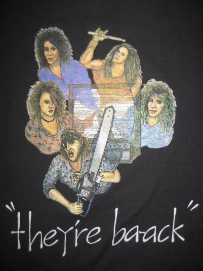 Vintage late 80s-early 90s Slave Raider glam rock t-shirt