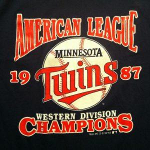 Vintage 1987 Minnesota Twins baseball World Series t-shirt