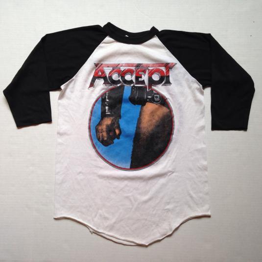 Vintage 1983 ACCEPT Balls To The Wall raglan t-shirt