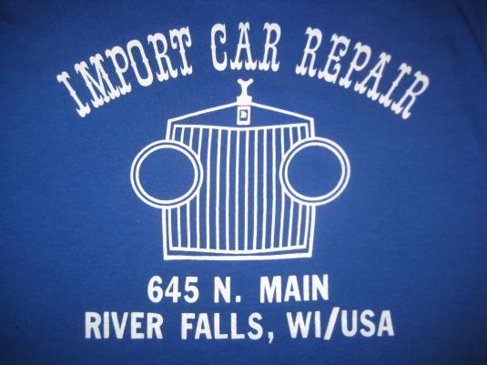 Vintage 1980s Car Repair t-shirt, M L