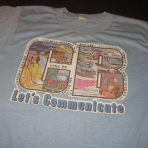 Vintage 1970's awesome CB radio t-shirt, soft & thin