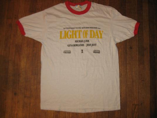 Vintage 1987 Light of Day movie promo ringer t-shirt
