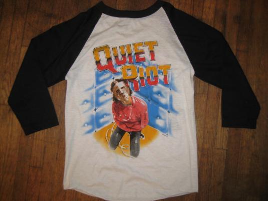 Vintage 1980's deadstock Quiet Riot raglan t-shirt, small