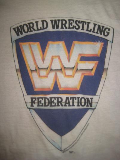 Vintage 1980s WWF Wrestling ringer t-shirt