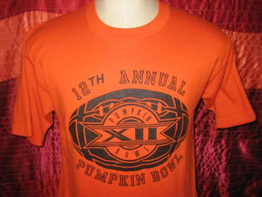 Vintage 1986 t-shirt, Pumpkin Bowl, soft and thin, L