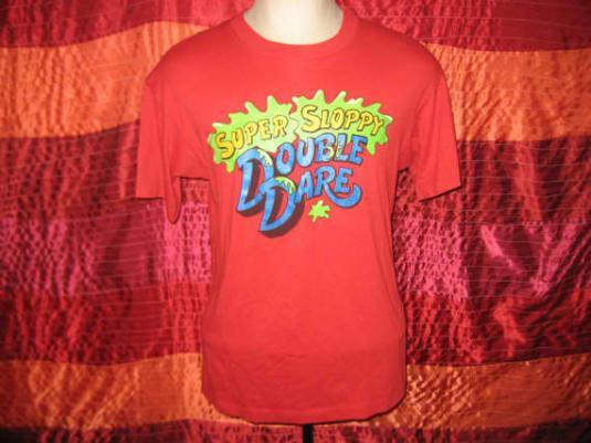 Vintage 80's Super Sloppy Double Dare t-shirt, M L