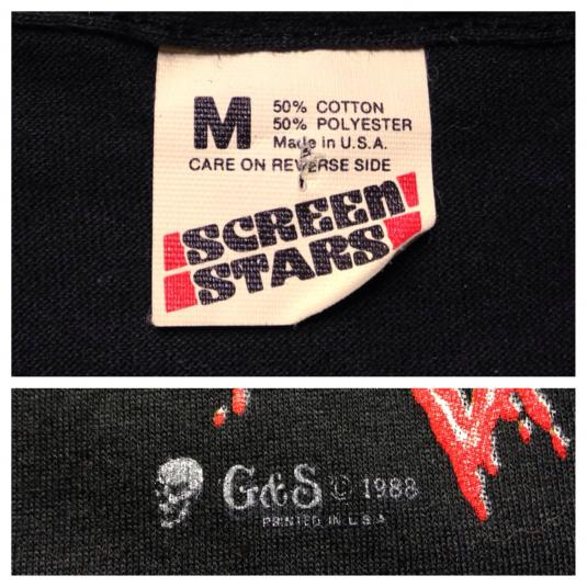 Vintage 1980's Bad Blood spiky skull badass t-shirt