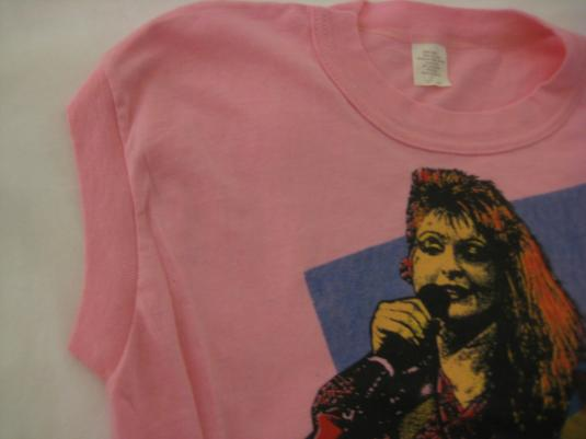Vintage 1980's Cyndi Lauper sleeveless t-shirt, soft & thin
