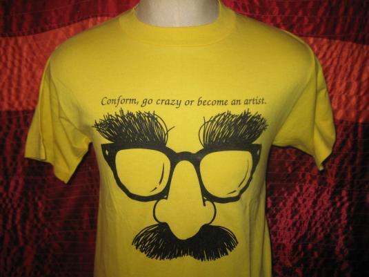 Vintage 1980s funny artist t-shirt, M L