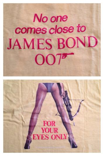 Vintage 1983 James Bond For Your Eyes Only movie t-shirt