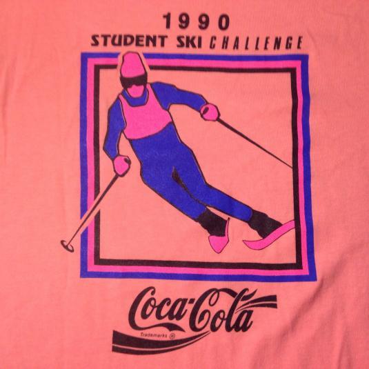 Vintage 1990 Coca Cola Coke ski challenge t-shirt