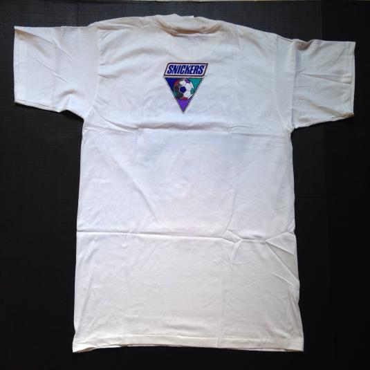 Vintage 1994 Snickers World Cup soccer t-shirt