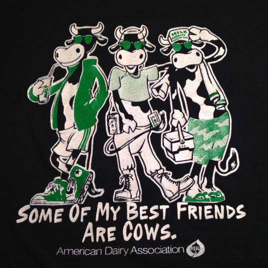 Vintage Cute 1980's dairy cows t-shirt