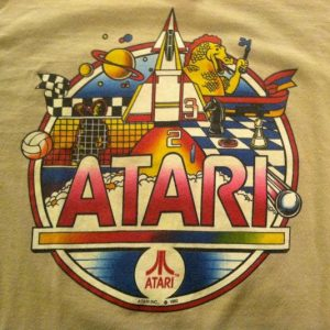Vintage 1980's Atari classic retro video game t-shirt