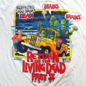 Vintage '88 Return of the Living Dead 2 horror movie t-shirt
