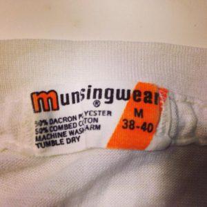 Vintage 1970's Munsingwear blank plain white tee t-shirt